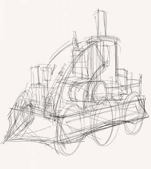 Как рисовать машины в стиле паропанк.